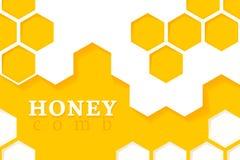 tła zamknięty honeycomb wizerunek zamknięty Wektorowa ilustracja Geometryczni sześciokąty ilustracji