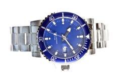 tła zamknięty zegarków biel nadgarstek Obraz Stock