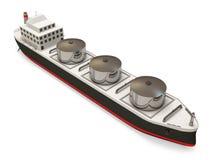 tła zbiornikowiec do ropy biel Obrazy Royalty Free