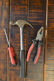 tła zbliżenie praca metal śrubuje biały narzędzie pracę Obraz Stock