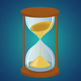tła zegarowego obejmowania szary hourglass mężczyzna malował ciężarne piaska żołądka kobiety Fotografia Stock