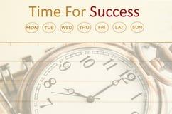 tła zegarowego pojęcia nowożytny szyldowy sukcesu czas biel Zdjęcie Royalty Free