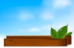 tła zieleni liść wektorowy drewno Zdjęcie Royalty Free