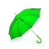 tła zieleni odosobniony parasolowy biel ilustracja 3 d royalty ilustracja