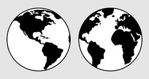 tła ziemski wizerunek odizolowywający planety biel ilustracja wektor