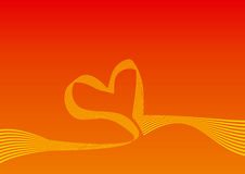 tło łuku kształt serca Obrazy Royalty Free