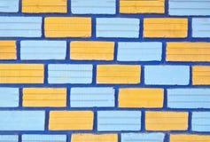 tło ściana ceglana kolorowa Schodowy rzędu pojęcie Obraz Royalty Free