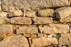 tło ściana naturalna kamienna Tekstura kamienna ściana zdjęcia stock