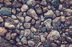 Tło ściana robić kamień Siwieje rockową tapetę Abstrakcjonistyczna morze plaży tekstura Copyspace dla twój reklamy lub teksta Obrazy Stock