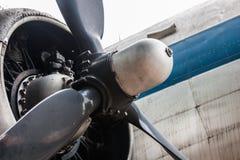 Tło śmigło zaniechany metalu samolot fotografia stock