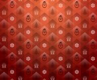 tło świąteczne lampki czerwony magii Zdjęcia Stock