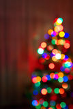 tło świąteczne lampki tree Zdjęcie Royalty Free
