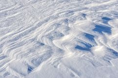 Tło świeża śnieżna tekstura w błękitnym brzmieniu Obraz Stock