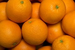 Tło świeży dojrzały pomarańcze wierzchołka zakończenie w górę widoku Obraz Stock