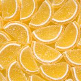Tło żółty marmoladowy cukierek obraz stock