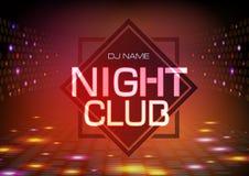 tło abstrakcjonistyczna dyskoteka Neonowego znaka nocy klubu plakat ilustracji