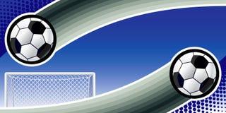 tło abstrakcjonistyczna piłka nożna Obraz Royalty Free
