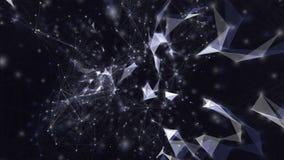 Tło abstrakcjonistyczna plexus struktura z trójbokami, liniami i kropkami, ilustracja wektor