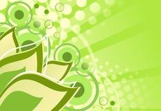 tło abstrakcjonistyczna zieleń Ilustracji