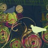 tło abstrakcjonistyczne gołąbki dwa Zdjęcia Royalty Free