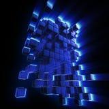 tło abstrakcjonistyczni bloki Zdjęcia Stock