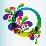 tło abstrakcjonistyczni curles Obraz Royalty Free