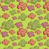 tło abstrakcjonistyczni kwiaty zielenieją bezszwowego Obrazy Stock
