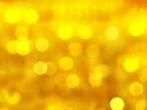 Tło Abstrakcjonistyczny Bokeh Złoty Zdjęcia Royalty Free