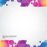 Tło abstrakcjonistyczny kolorowy sztandar również zwrócić corel ilustracji wektora Zdjęcia Stock