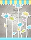 tło abstrakcjonistyczny kwiat Obrazy Royalty Free