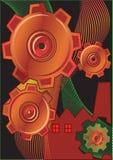 tło abstrakcjonistyczny przemysł Obrazy Stock