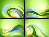 tło abstrakcjonistyczny set Zdjęcie Royalty Free
