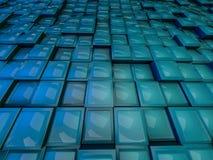 tło abstrakcjonistyczny sześcian 3d Obraz Royalty Free