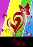 tło abstrakcyjna miłości Fotografia Royalty Free