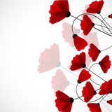 tło abstrakcyjna natura makową czerwone kwiaty ilustracja wektor