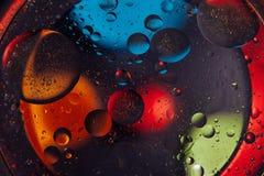 tło abstrakcyjna przestrzeni Wod krople różni colours Zdjęcie Stock