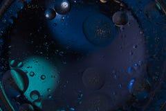 tło abstrakcyjna przestrzeni Wod krople różni colours Zdjęcie Royalty Free