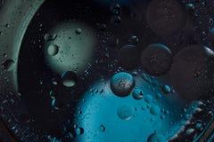 tło abstrakcyjna przestrzeni Wod krople różni colours Zdjęcia Stock