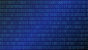 tło abstrakcyjna technologii binarnego kodu komputer Wektorowa bolączka Obrazy Stock
