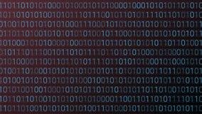 tło abstrakcyjna technologii binarnego kodu komputer Wektorowa bolączka Obraz Royalty Free