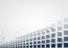 tło abstrakcyjna technologii Futurystyczny technologia interfejs Vecto Zdjęcia Stock