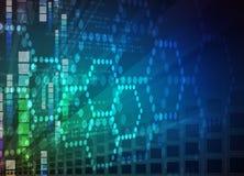 tło abstrakcyjna technologii Futurystyczny technologia interfejs Vecto Obrazy Stock