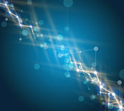 tło abstrakcyjna technologii Futurystyczny technologia interfejs Vecto Zdjęcia Royalty Free