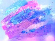 tło akwarela błękitny fiołkowa fantazja struktura Obrazy Royalty Free