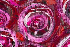 tło akwarela kwiecista malująca Obrazy Royalty Free