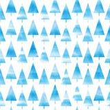 Tło akwareli choinka bezszwowy wzoru Akwareli choinka abstrakcjonistycznych gwiazdkę tła dekoracji projektu ciemnej czerwieni wzo zdjęcie stock
