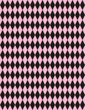 tło arlekinu czarny różowego wektora Obrazy Stock