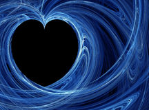 tło błękit serce Zdjęcia Royalty Free