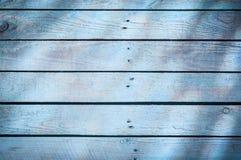 Tło błękitne drewniane deski Zdjęcia Stock
