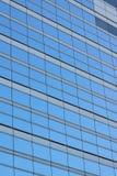 Tło błękitni biurowi szklani okno Obraz Stock